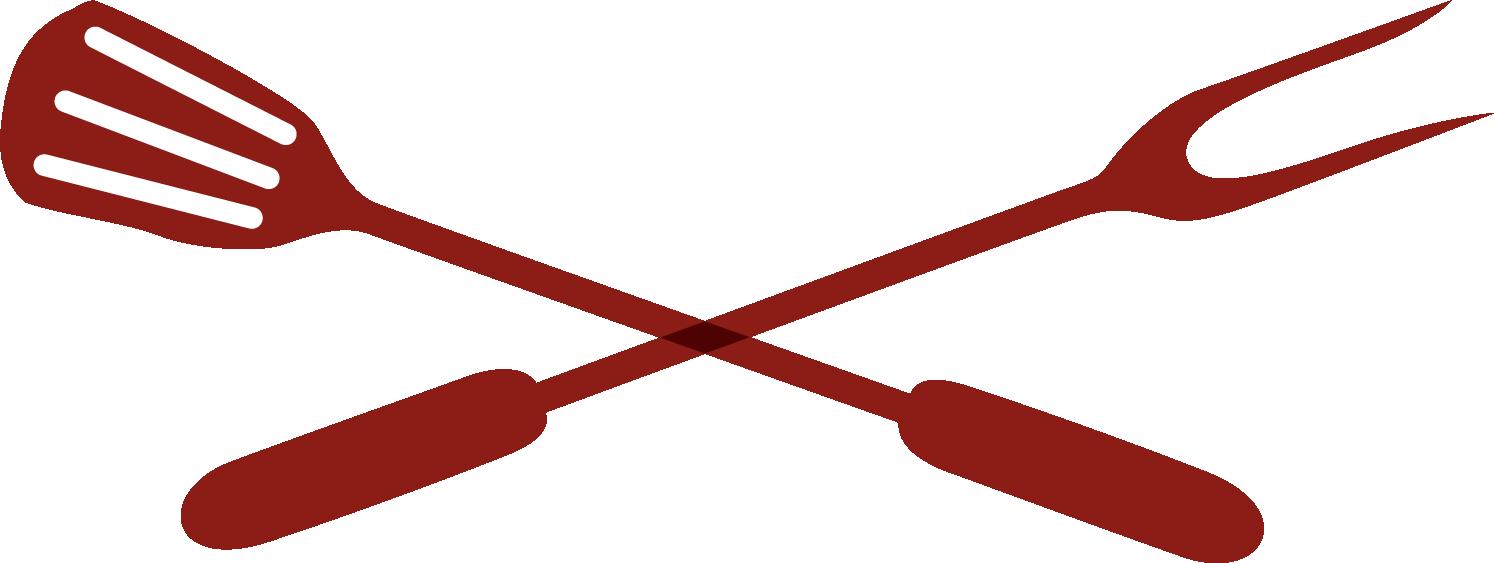 Crossed utensils logo